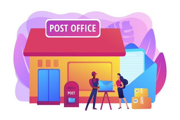 Illustration des services de bureau de poste