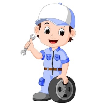 Illustration de serviteur de dessin animé