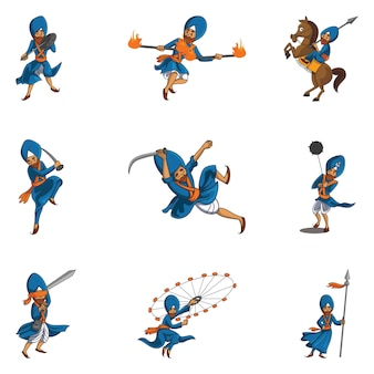 Illustration de set punjabi nihang sardar