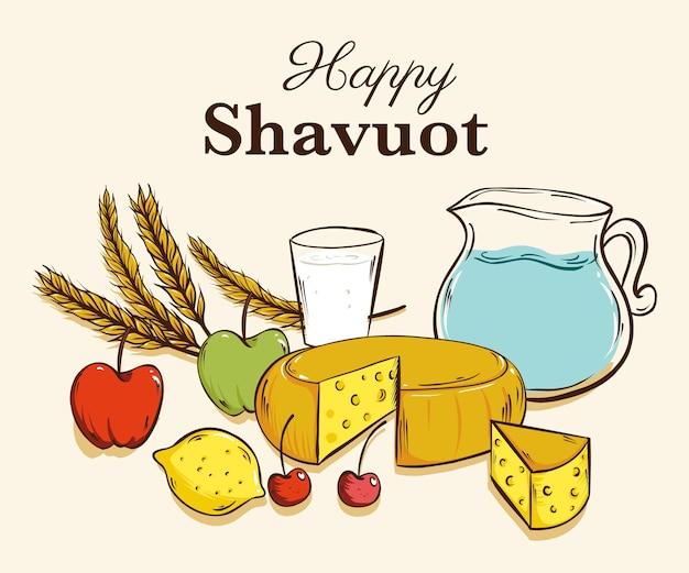 Illustration de shavuot dessiné à la main