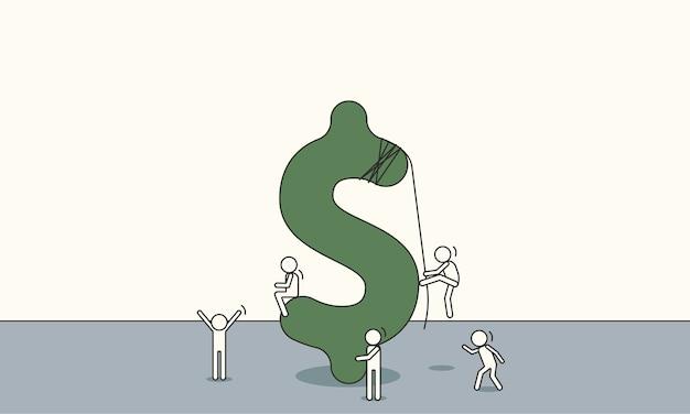 Illustration de signe dollar