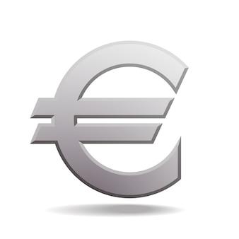 Illustration de signe euro gris isolé