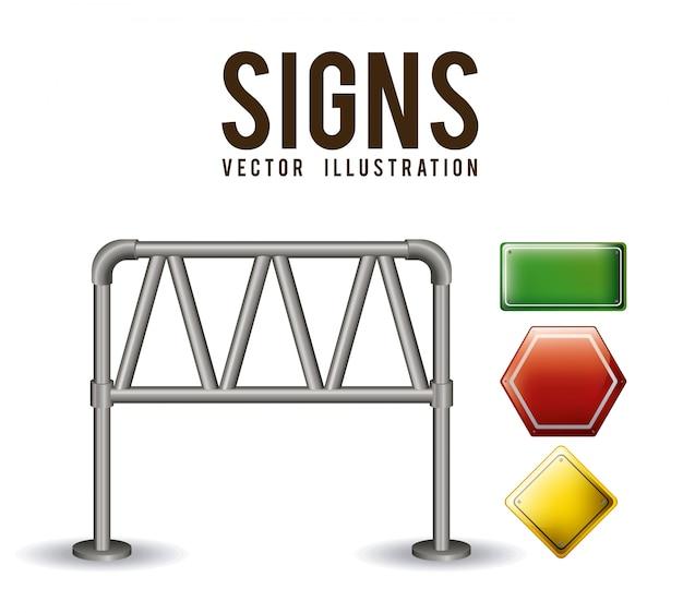 Illustration de signes.