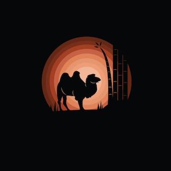 Illustration de silhouette de chameau
