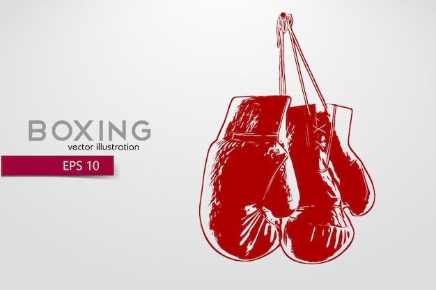 Illustration de silhouette de gants de boxe