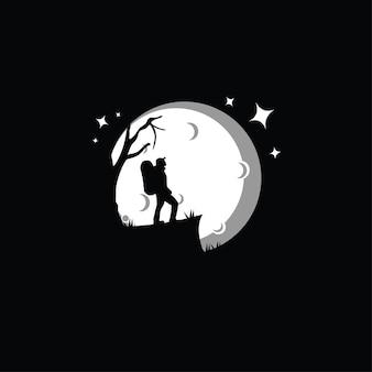 Illustration de silhouette de grimpeur