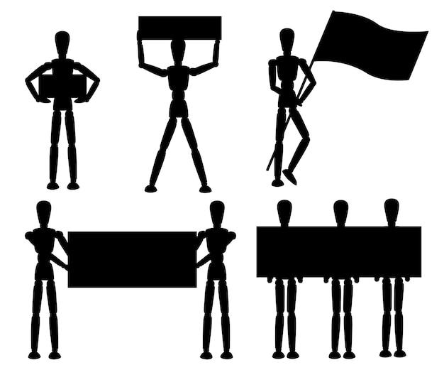 Illustration de la silhouette noire