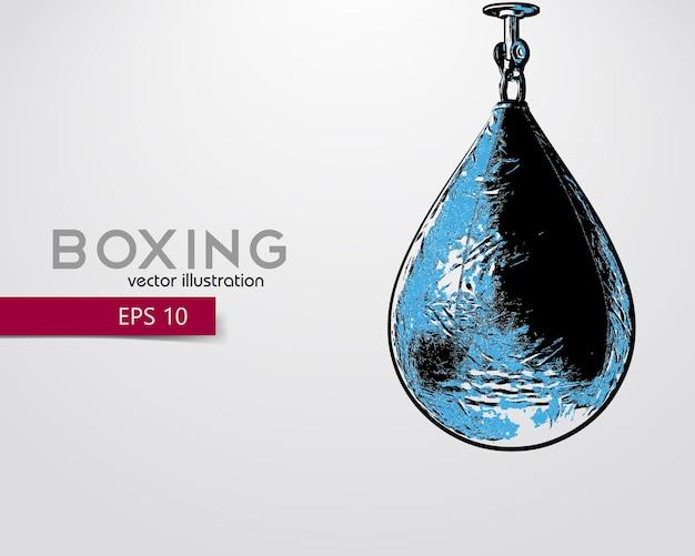 Illustration de silhouette de sac de boxe