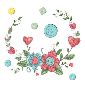 Illustration simple avec une aiguille à tricoter