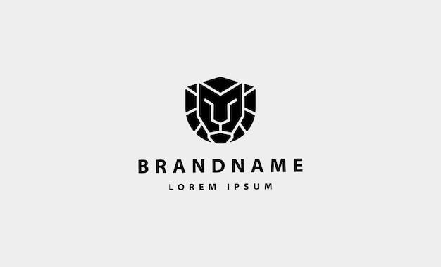 Illustration simple de conception de vecteur de logo de lion