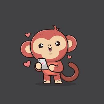 Illustration de singe animal mignon