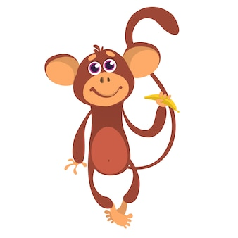Illustration de singe de dessin animé