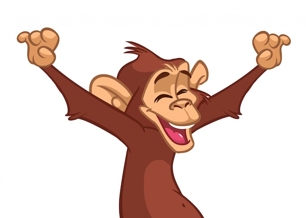Illustration de singe drôle de dessin animé