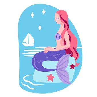 Illustration de sirène plate