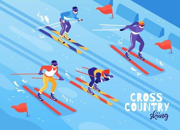 Illustration de ski de fond