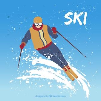 Illustration skieur