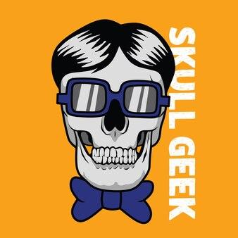 Illustration de skull geek