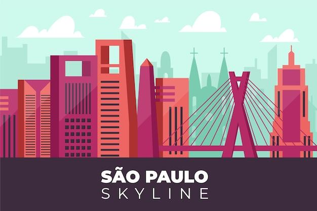 Illustration de skyline de são paulo