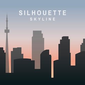 Illustration de skyline silhouette