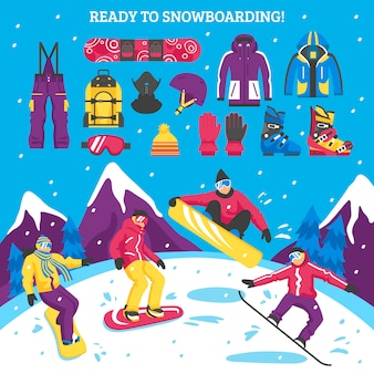 Illustration de snowboard