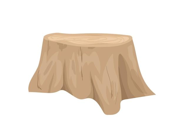 Illustration de souche d'arbre coupé