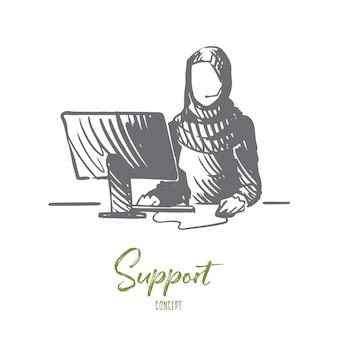 Illustration de soutien à la main