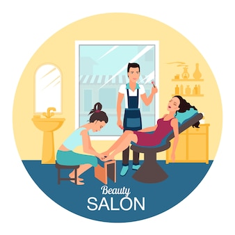 Illustration de spa salon de beauté