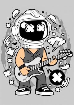 Illustration de space rock