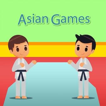 Illustration de sport de karaté