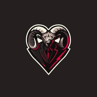 Illustration de sport logo chèvre