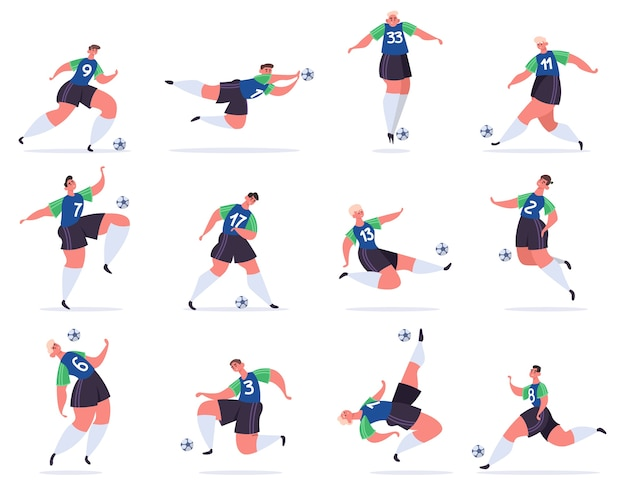 Illustration de sportifs professionnels de football