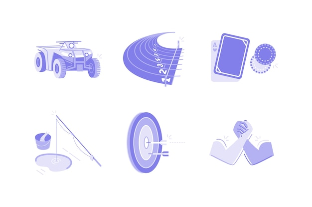 Illustration de sports et d'activités