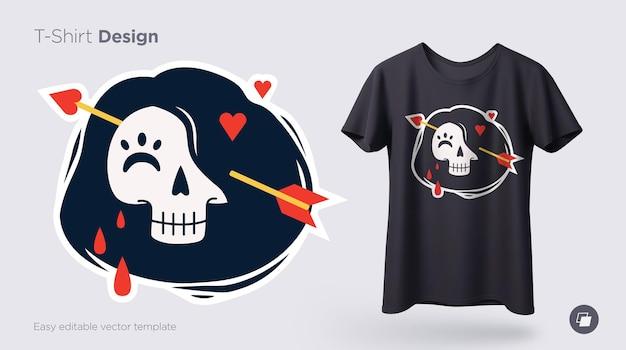 Illustration de squelette drôle. imprimez sur des t-shirts, des sweat-shirts et des souvenirs. vecteur