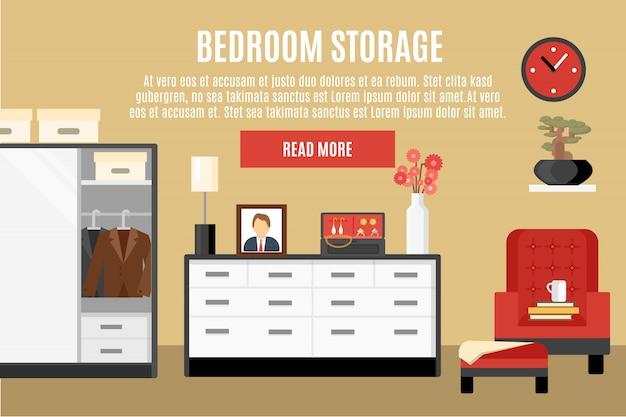 Illustration de stockage de chambre à coucher