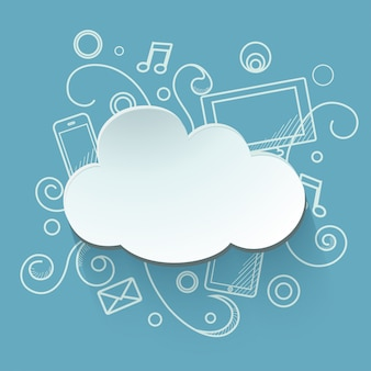 Illustration de stockage cloud