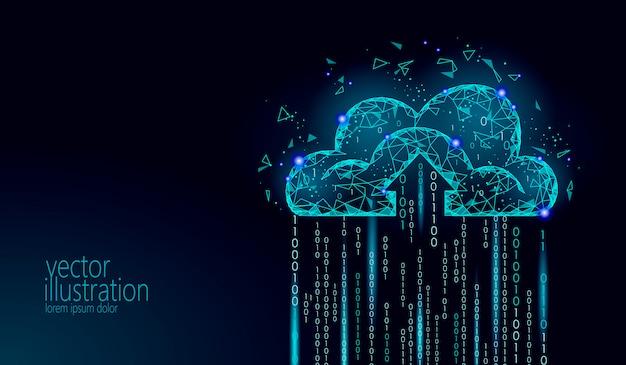 Illustration de stockage en ligne en nuage informatique