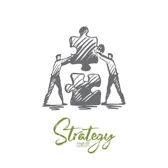Illustration de la stratégie dessinée à la main
