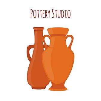 Illustration de studio de poterie