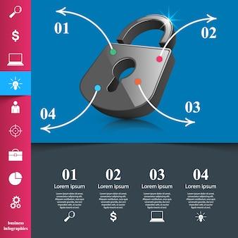 Illustration de style origami affaires infographie vectorielle.