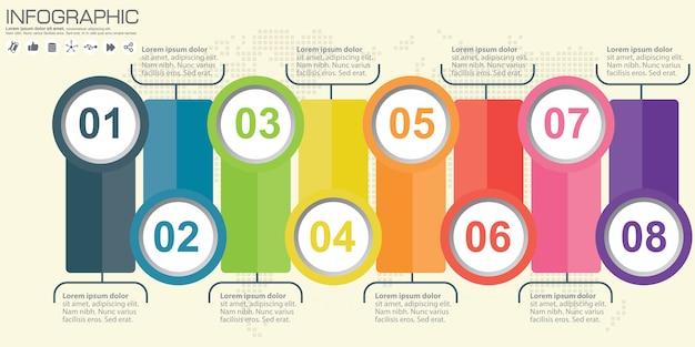 Illustration de style origami cercle infographie entreprise.