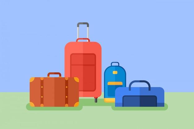 Illustration de style plat de bagages