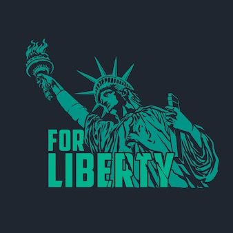 L'illustration de style vintage de la statue de la liberté