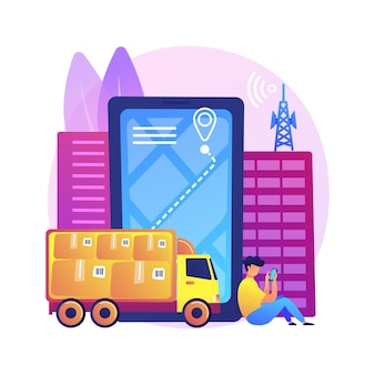 Illustration de suivi du service postal