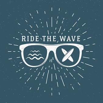 Illustration de surf vintage