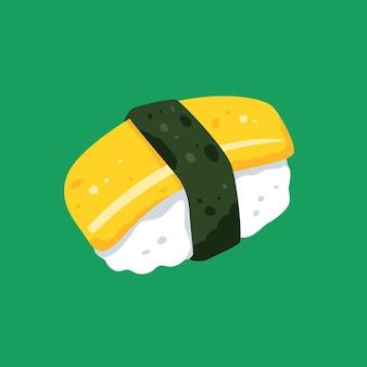Illustration de sushi plat minimaliste