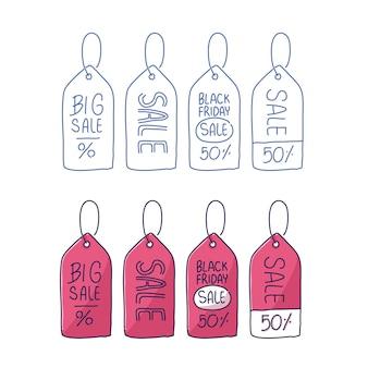 Illustration de symbole d'étiquette de prix