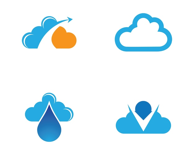 Illustration de symbole nuage