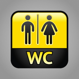 Illustration de symbole de toilettes