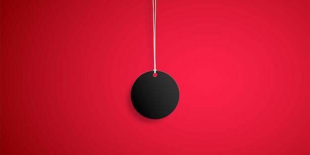 Illustration de tag noir vente vendredi noir