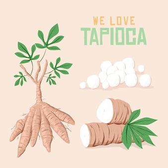 Illustration de tapioca dessiné à la main